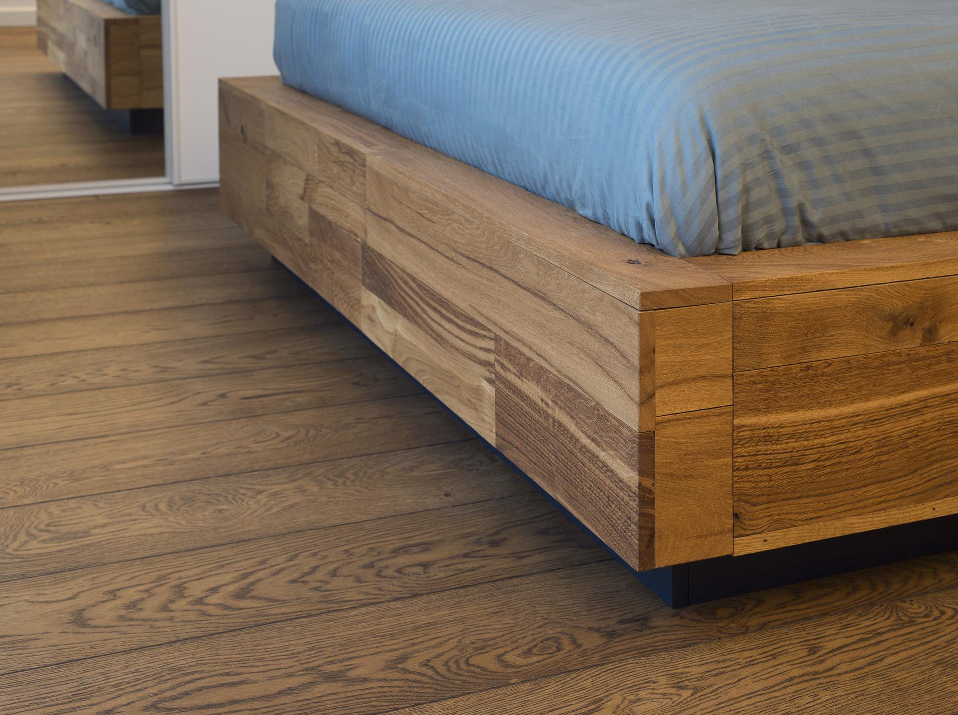 lova-rankų-darbas-ąžuolas-moderni